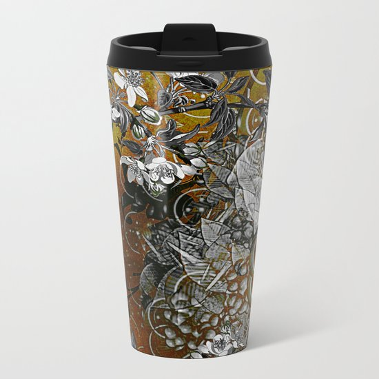 Amber Chinese Silk Metal Travel Mug