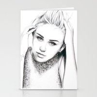 miley cyrus Stationery Cards featuring Miley Cyrus by Siney
