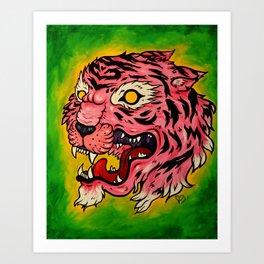 Wrath of the Pink Tigress Art Print