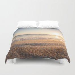 Sunspot in the Sand Duvet Cover