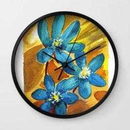 Hepatic Blue Wall Clock