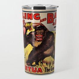 1938 Ringling Brothers and Barnum & Bailey Big Top 'GARGANTUA the Great' Circus Poster Travel Mug