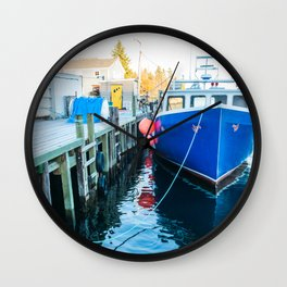 Lobster fishing Wall Clock
