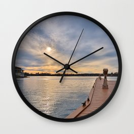 Alexandria Bay Sunset Wall Clock