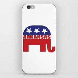 Arkansas Republican Elephant iPhone Skin