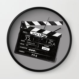 Clapperboard Wall Clock