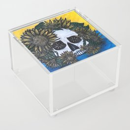 Skull and Sunflowers Acrylic Box