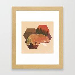 POLYBEAR Framed Art Print