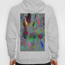 Colours Giraffes. On Front Page. Hoody