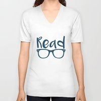 read V-neck T-shirts featuring Read  by E.A. Creative