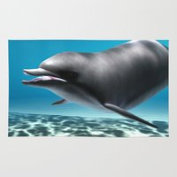 dolphin Area & Throw Rugs featuring Dolphin by Design Windmill