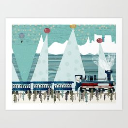 the penguin express Art Print