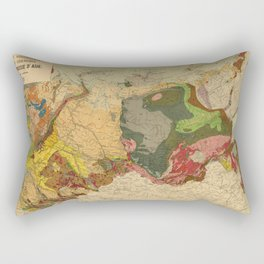 Vintage Geological Map of Russia (1922) Rectangular Pillow