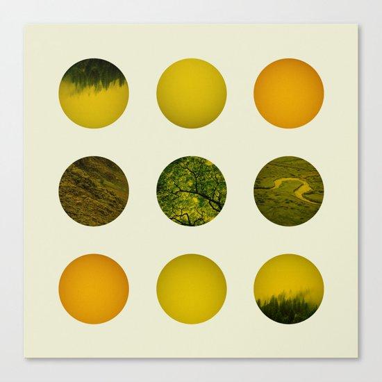 Earth Dot Pattern Canvas Print
