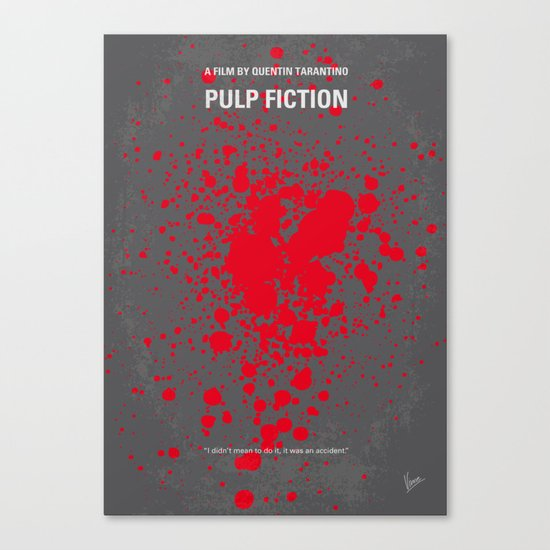 No067 My Pulp Fiction minimal movie poster Canvas Print