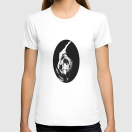 Beautiful Black&White Fashion Acrobatic Girl On Balance Circus Series T-shirt