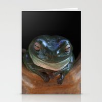 ashton irwin Stationery Cards featuring Irwin the Frog by Morgan Roddick
