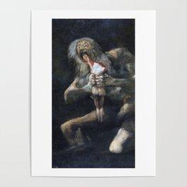 Francisco de Goya - Saturn Devouring His Son 1823 Artwork for Wall Art, Prints, Posters, Tshirts, Men, Women, Youth Poster