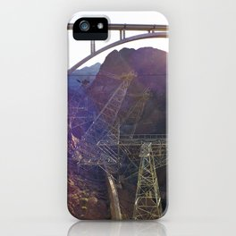 Hoover Dam Electicity Towers iPhone Case