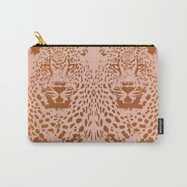 Sunset Blvd Leopard - blush pink and coral original print by Kristen Baker Carry-All Pouch