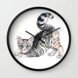 Yoga Kitten Wall Clock