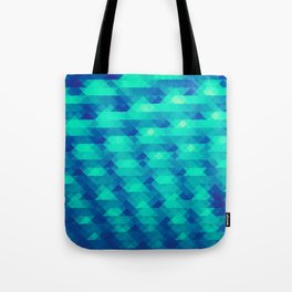 Modern Fashion Abstract Color Pattern in Blue / Green Tote Bag