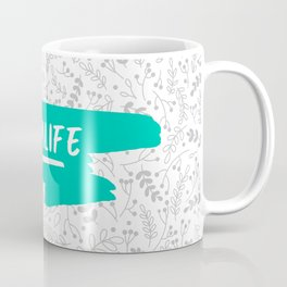 #momlife in teal Coffee Mug