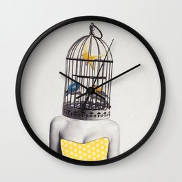 Bird Brained Babe Wall Clock