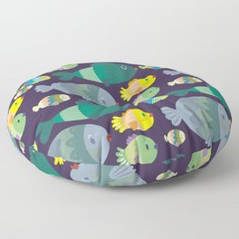 Fish pattern Floor Pillow