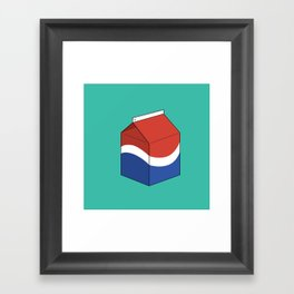 Pepsi in a box Framed Art Print