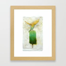 Canary Popsicle Lime Framed Art Print