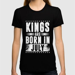 Kings Are Born In July 2 Birthday Gift T-shirt