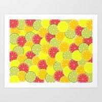 Summer fruits Art Print