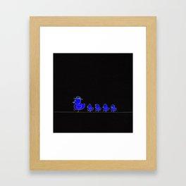 Mom_! Walk SLOW_! Framed Art Print