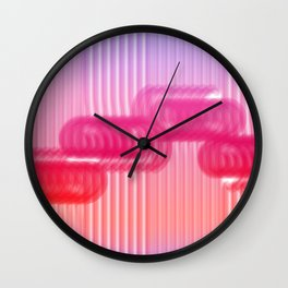 Cotton sugar candy - paint abstract Wall Clock