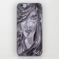 plain iPhone & iPod Skins featuring Plain Jane by Sartoris ART