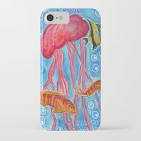 jelly fish iPhone & iPod Cases featuring Jelly Fish by Julie M Studios