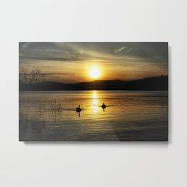 Willow Bay Sunset Metal Print