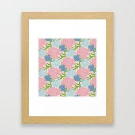 Pale Garden Framed Art Print