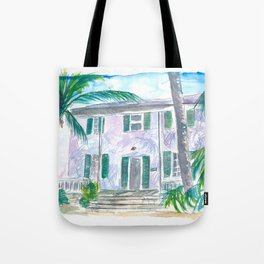 Key West Conch Dream House-Southernmost and Cozy Keys Tote Bag