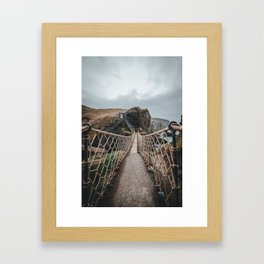 Carrick-a-Rede Framed Art Print