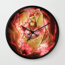 Where The Wild Dudes Are Wall Clock