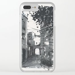 Lorgues Street Scene II Clear iPhone Case