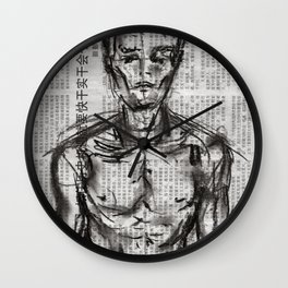 Strategy - Charcoal on Newspaper Figure Drawing Wall Clock