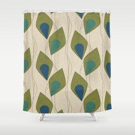 Climbing Vines Pearl Green Shower Curtain