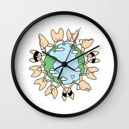 We Are Different But the Same Corgis Wall Clock