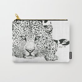 Leopard Ink Painting (print) Carry-All Pouch