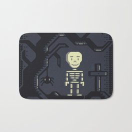 Skeleton boy artwork Bath Mat