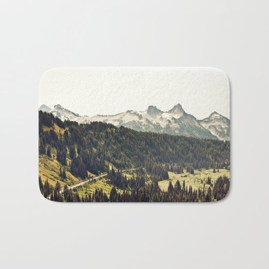 Epic Drive through the Mountains Bath Mat