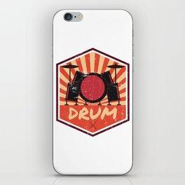 Drum Propaganda   Drummer Musician Band iPhone Skin